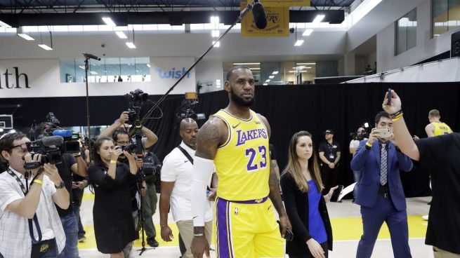 LeBron James at Lakers Media Day.