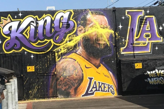 LeBron Mural in Los Angeles