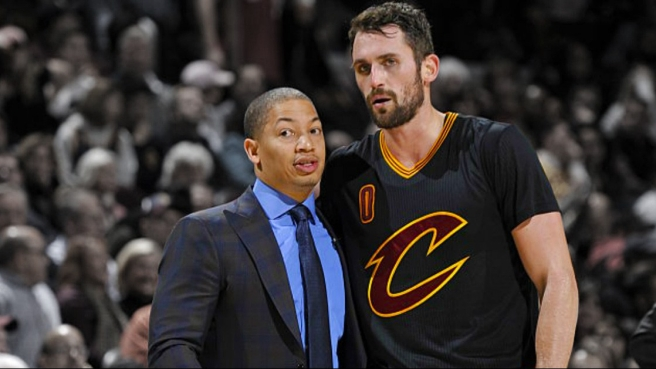 Ty Lue and Kevin Love