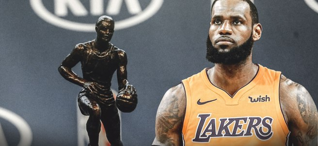 Is LeBron on his way to a fifth MVP award with the Lakers?