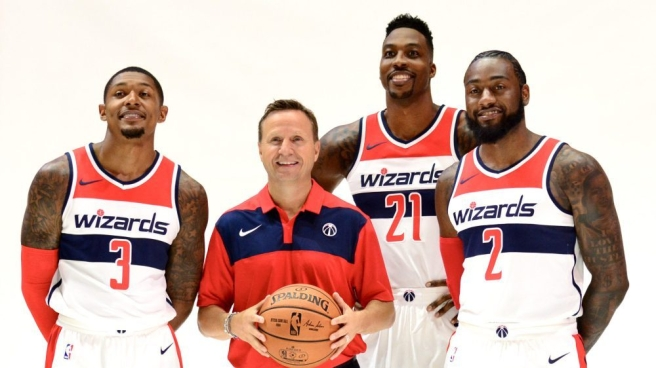Washington Wizard's big three and coach this season.
