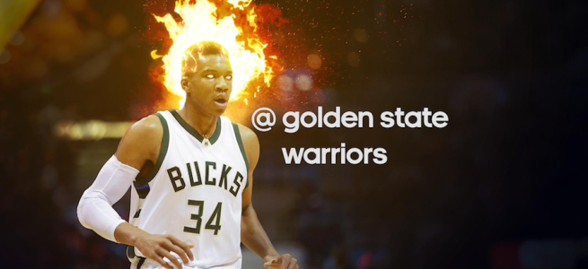 Will the Greek Freak be on fire tonight against the Warriors?