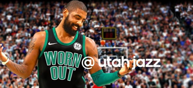 Kyrie Irving and the worn out Boston Celtics head face the Utah Jazz